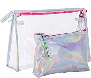 2pcs/Pack Toiletry Bags Makeup Organizer Bags Clear PVC Travel Cosmetic Bag for Women Travel Business Bathroom Zhhlinyuan