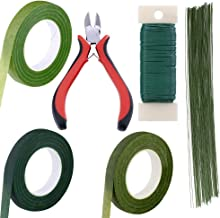 Supla Floral Arrangement Kit Floral Tools Wire Cutter Stem Wire Floral Wire 26 Gauge and 22 Gauge Wire Green Floral Tapes ...