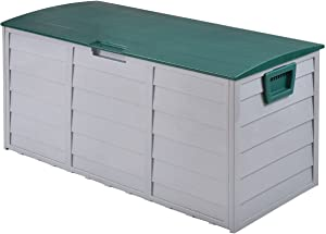 "Patio Garage Shed Tool 44"" Deck Storage Box 70 Gallon Outdoor Bench Container this box wheels"