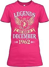 Legends are Born in December 1962 Tshirt - Gildan Women's Relaxed Tee