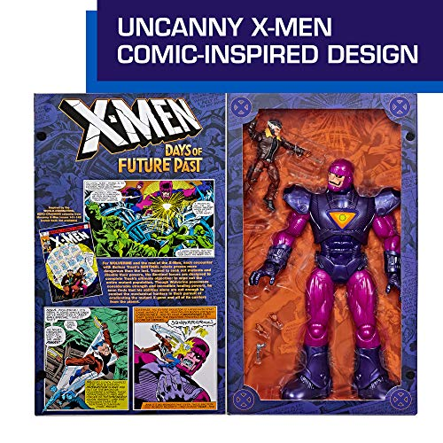 """Hasbro Marvel Legends Series X-Men Days of Future Past 16"""" Electronic Sentinel and 6"""" Wolverine Figure (Amazon Exclusive…"""