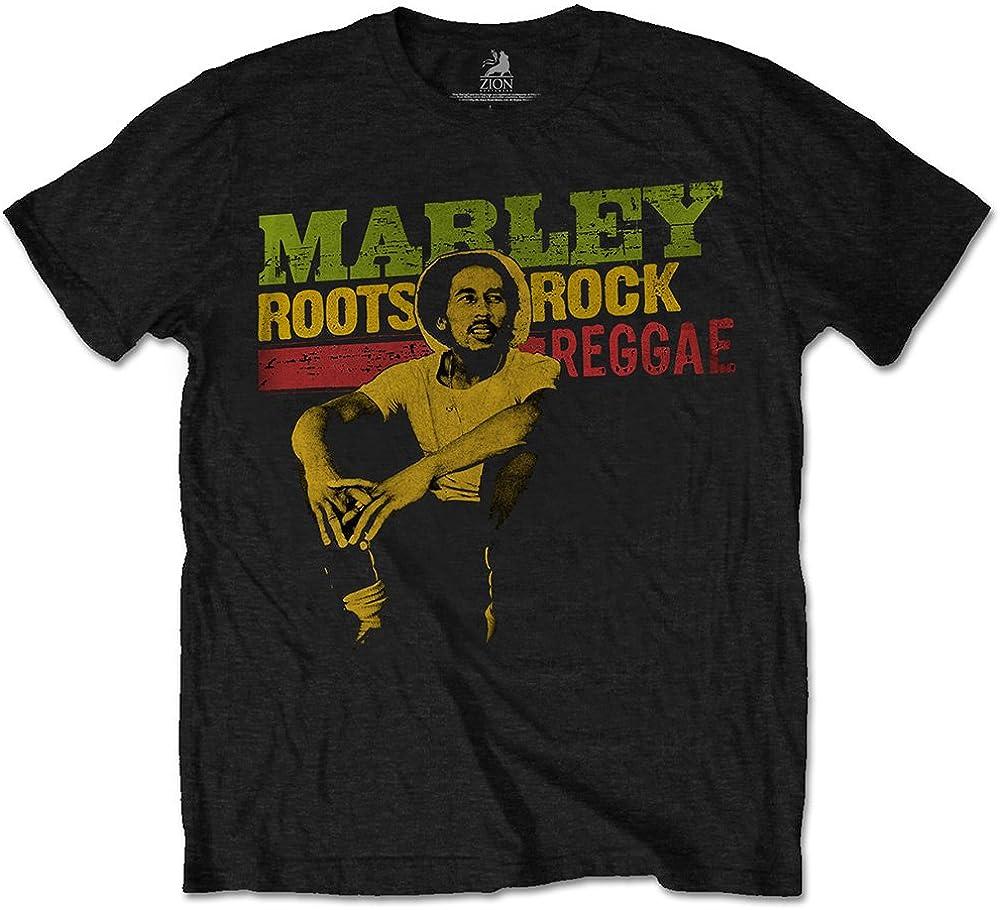 Bob Marley Roots, Rock, Reggae Camiseta para Hombre