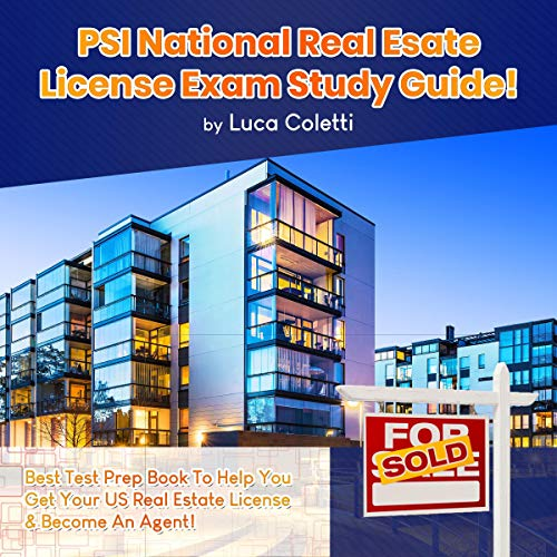 PSI National Real Estate License Exam Study Guide! Audiobook By Luca Coletti cover art
