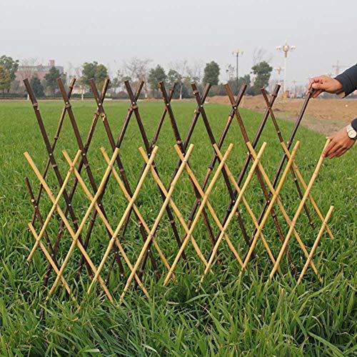 JIANFEI-weilan Gartenzaun Steckzaun Bambuszaun Blumenbeet Dekoration Gartenzaun Ausziehbar Wasserdicht Regenfest, 4 Größen (Size : 60x180cm)