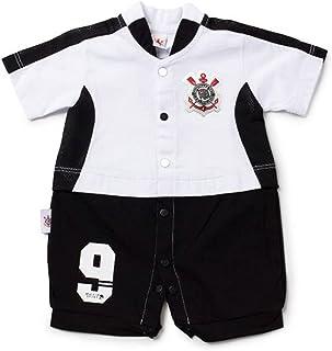 Rêve D'or Sport - Macacão Curto Artilheiro Corinthians, P, Branco/Preto