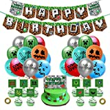 Zubeh?r für Geburtstagsfeiern im Pixel-Stil, Dekorationen