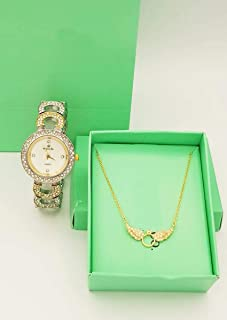 Diamond Dior Watch Set For Women Analog Synthetic - D0947045
