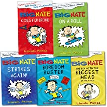 Big Nate Collection 5 Books Set Pack RRP: £28.95 (Big Nate Goes For Broke, Big Nate On a Roll, Big Nate Strikes Again, Big Nate The Boy With The Biggest Head, Big Nate Boredom Buster)