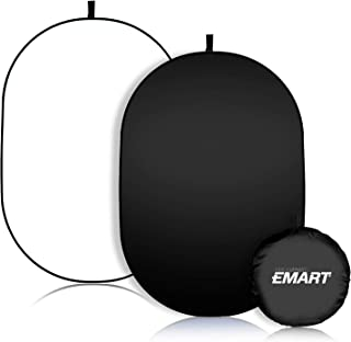 EMART 5ft x 6.5ft Photo Video Studio 2-in-1 Collapsible Background Panel, Full Cotton Photography Background with Carrying...