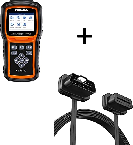 FOXWELL NT630 Plus OBD2 Scanner and FOXWELL Extention Cable 16 pin ABS SRS Scan Tool