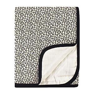 Little Treasure Unisex Baby Cotton Muslin Tranquility Quilt Blanket, Leopard