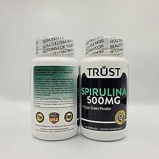 Trust spirulina super green powder Antioxidant and Anti-Inflammatory 500 mg 60 caps