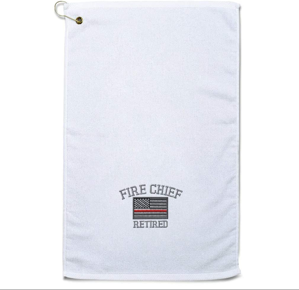 Style In Print Golf Towel Firefighter Chief Retired Cotton Bag A