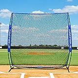 FORTRESS Baseball Protective Screen – 7 foot x 7 foot Square Baseball Screen Backstop Batting Practice Screen [Net World Sports] (Pop-Up Baseball Screen)