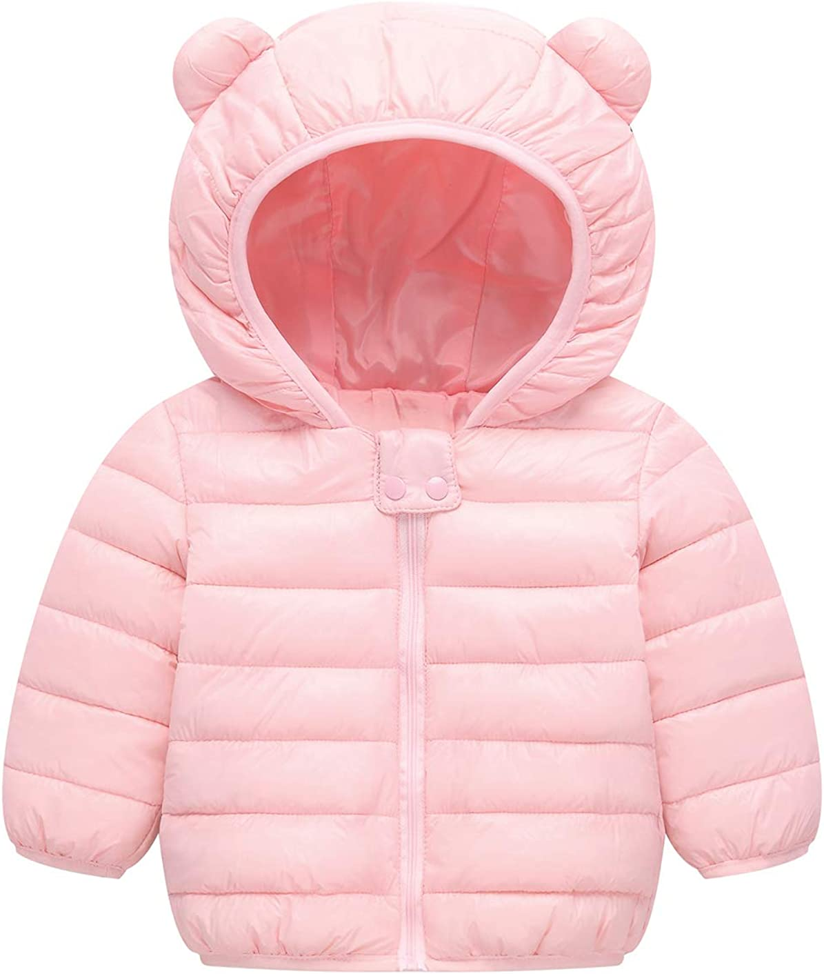 Baby Boys Girls Toddler Kids Winter Coats with Ears Hoods Padded Puffer Jacket