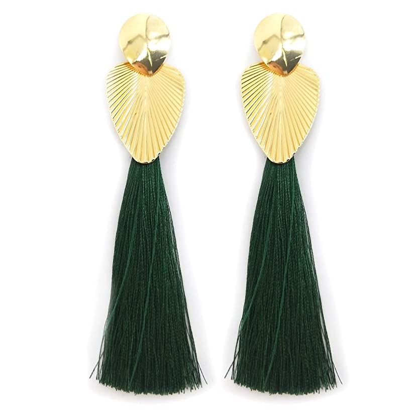 UTOP Long and Stylish Tassel Drop Earrings - Newest Assortment of Fashionable Colors