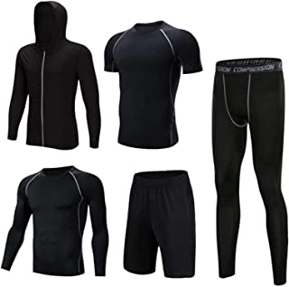 Men's Workout Clothes, Men's Sports Running Set,Tights, Sportswear, Training Clothes, Bottoming Shirts, Quick-Drying Clothes