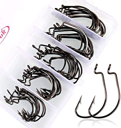 Sougayilang Fishing Hooks High Carbon Steel Worm Soft...