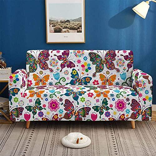 Funda de Sofá Elástica para Sofá de 1 2 3 4 plazas, Impresión Universal Cubierta de Sofá Cubre Moda Sofá Antideslizante Sofa Couch Cover Protector,4seat