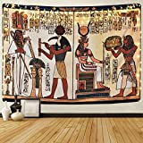 Sevenstars Egyptian Tapestry Ancient Egypt Mythology Tapestry Egyptian Gods Pharaohs Hieroglyphic Carvings Tapestries for Room