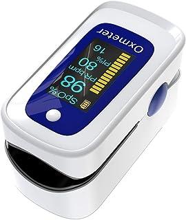 Oxímetro de pulso, oxímetro de dedo profesional oxímetro de saturación de oxíxeno con alarma, monitor de saturación de oxígeno para adultos y niños