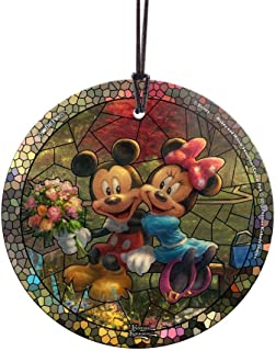 Trend Setters Disney – Mickey and Minnie – Sweetheart Central Park – Artwork by Thomas Kinkade Studios – Starfire Prints Hanging Glass – Ideal for Gifting and Collecting