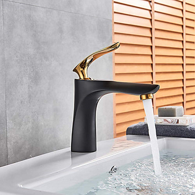 Waschbecken Wasserhahn - umfangreiche Verchromung Lackierung schwarz Deck InsGrößetion Einhand-Einloch-Wasserhahn