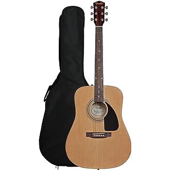 Fender Fa-100 Dreadnought Guitarra Acústica con funda: Amazon.es: Instrumentos musicales