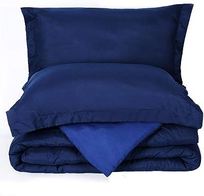 Trendd Full/Queen, Pattern Honeymoon Comforter, Navy and Blue