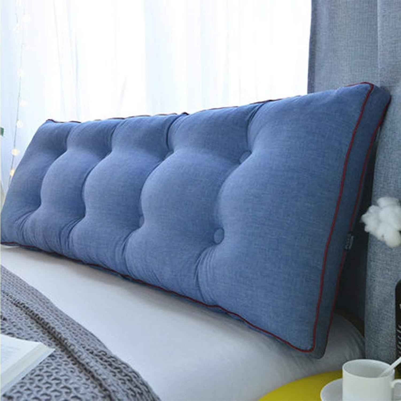 Tissu En Coton Oreiller Triangle Sac Souple Accueil Grand Coussin Dorsal Canapé Lit Lit Taille Oreiller (Couleur   C, taille   L60cmW20cmH50cm)