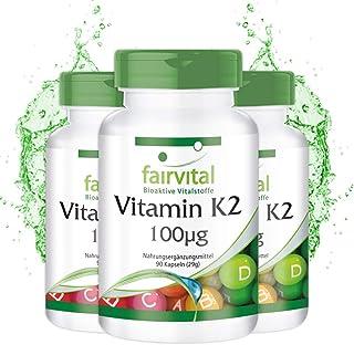 Vitamina K2 100µg - Menaquinona MK-7 Natural - Procedente