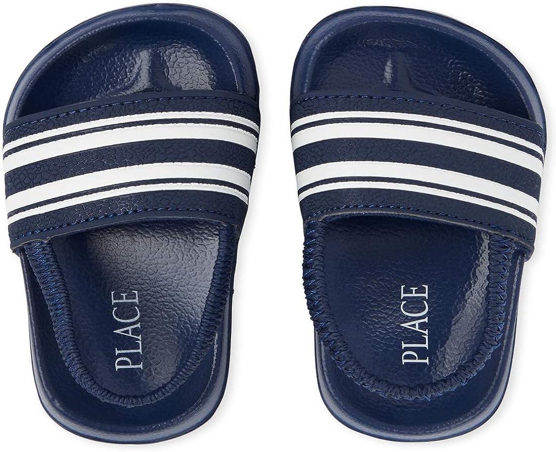The Childrens Place Unisex-Child Stripe Sandals Slipper