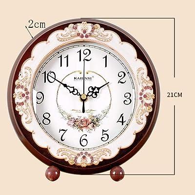 CLHXZE Reloj Europeo Dormitorio Dormitorio Reloj Mesa Sala de ...
