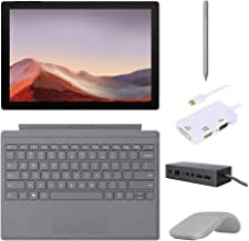 "$1139 » Microsoft Surface Pro 7 2 in 1 Touchscreen Tablet 12.3"" 2736x1824, 10th Gen i5, 8GB RAM, 128GB SSD, Quad-Core, USB-C, Backlit, Webcam, Win 10 w/Type Cover, Arc Mouse, Pen, Dock, Converter - Platinum"