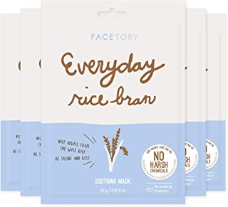 Everyday Rice Bran Soothing Mask With No Harsh Chemicals (Pack of 5) - Hydrating, Rejuvenating, and Clarifying