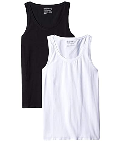 PACT Organic Cotton Stretch-Fit Tank Top Two-Pack (Black/White) Women