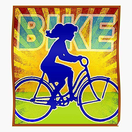 LAKO Bike Transportation Cycles Biking Races Recreation Bicycle Exercise Best for Home Decor Fine Wall Art Print Poster