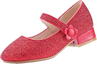 EIGHT KM EKM7018 Girls Mary Jane Low Heel Glittery Court Shoes