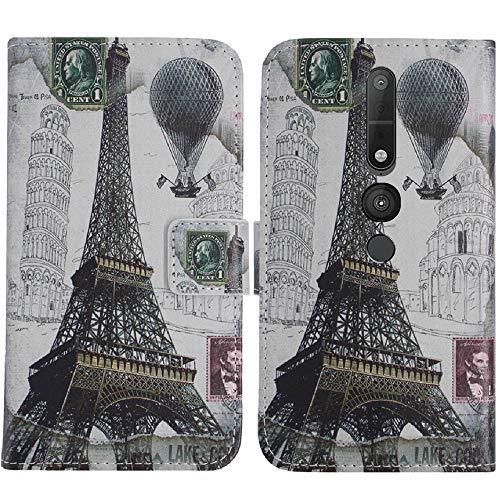 TienJueShi Eiffelturm Flip Book Stand Brief Leder Tasche Schütz Hülle Handy Hülle Abdeckung Fall Wallet Cover Etüi Skin Für Lenovo Phab 2 Pro 6.4 inch