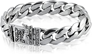 VY JEWELRY Solid 925 Sterling Silver Bracelet for Men AllSizes