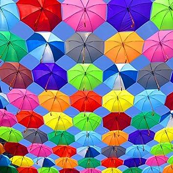 Regenbogenschirmchen