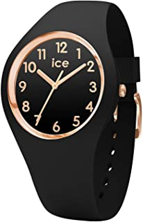 Ice-Watch - Ice Glam Black Rose-Gold Numbers - Orologio da Donna con Cinturino in Silicone - 014760, Small, Nero