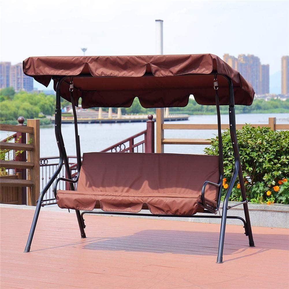 Outdoor//Patio Swing Cushion Cover Swing Seat Cover Replacement Dustproof Replacement Cover for Outdoor 3 Seat Swing Chair Black//Green//Brown-150 150 10cm Lightcolor Patio Swing Seat Cover