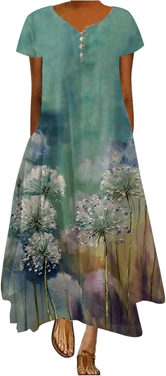 Maxi Dresses for Women Casual Max 49% OFF Summer Dres Long 2021 Max 66% OFF Vintage Boho