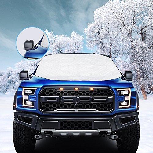 [2019 Newest Upgrade] Magnetic Car Windshield Snow Cover for SUV. 4 Layers, Waterproof, Soft...