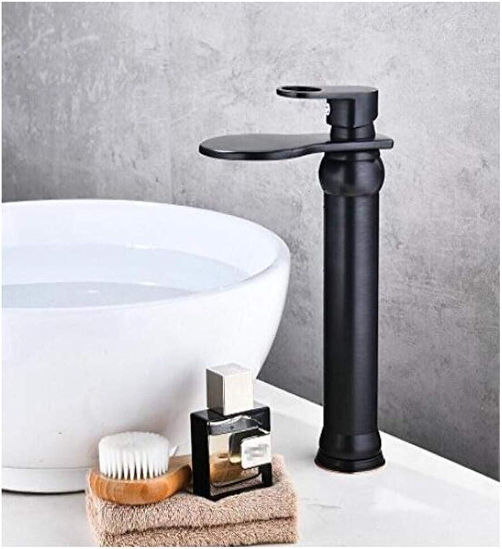 Wasserhahn Vintage überzogene Mischerhahn l Gebürstet Wasserfall Wasserhahn Bad Wasserhahn Bad Becken Wasserhahn Mischbatterie Hei Und Kalt Waschbecken Wasserhahn
