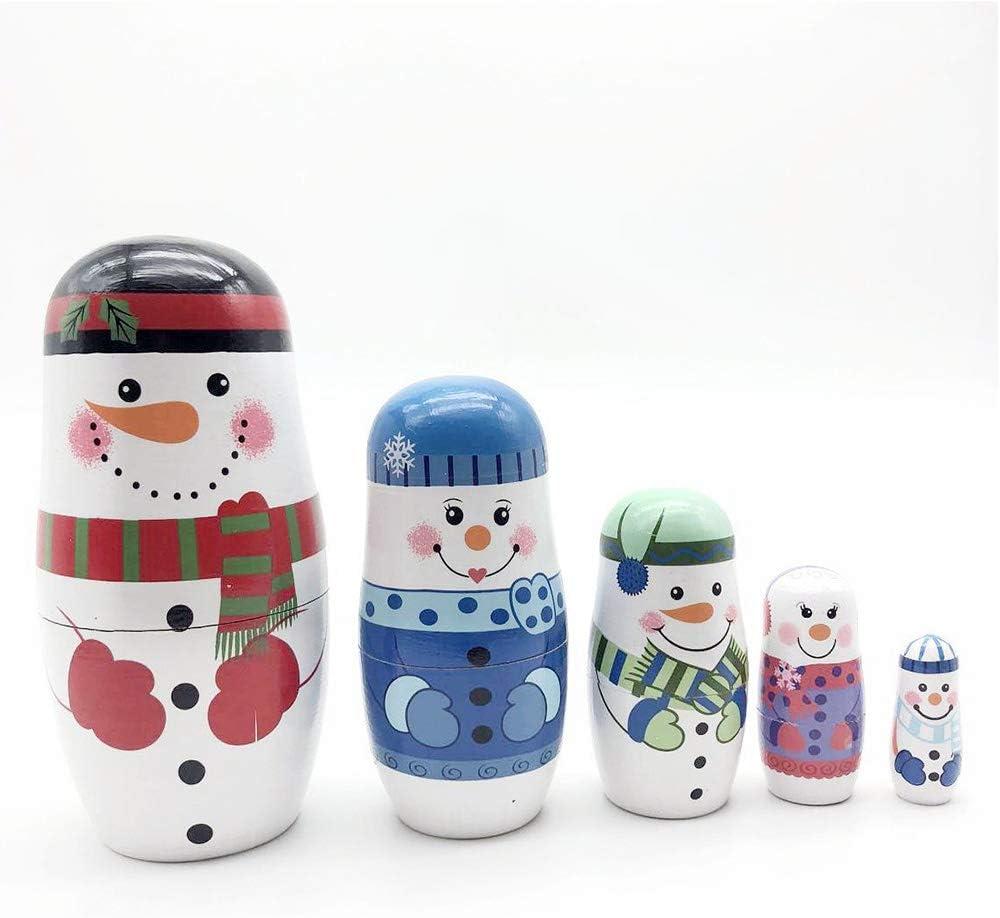 Konrisa Matryoshka Nesting Sales for sale Dolls Challenge the lowest price Snowman Pieces 5