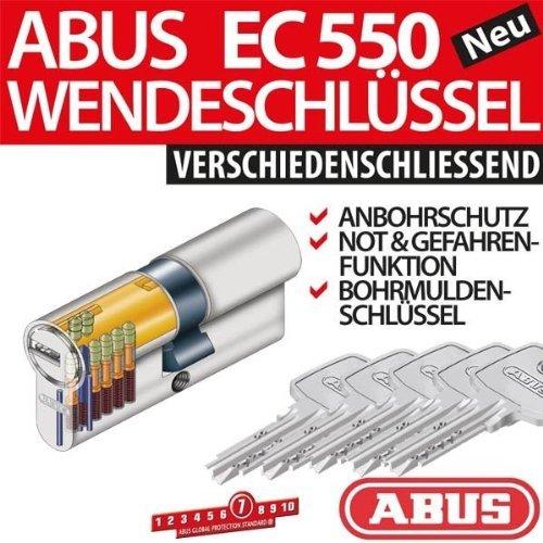 ABUS EC550 Zylinder 35/40 mm inkl. 5 Schlüssel