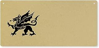 Azeeda 'Welsh Dragon' Large Wooden Wall Plaque / Door Sign (DP00016380)