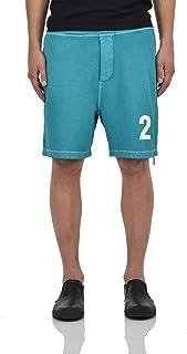 Dsquared2 Shorts Verde con Cerniera Uomo Verde Nuovo
